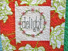 Christmas quilt - delight
