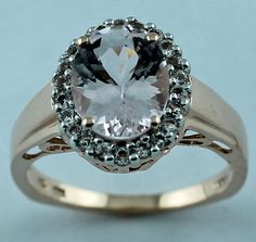 Morganite 2.13 CT. Solitaire Ring White Topaz in 10K Rose Gold Eternity Jewelry #carillonIndia #Theme