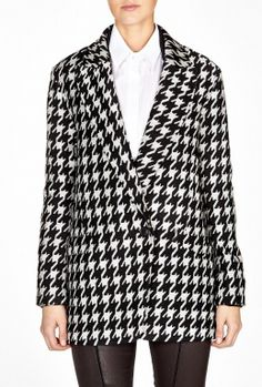 Brookline Danvey Oversized Houndstooth Jacket by Theory   COCOON FIT