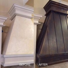 A range hood transformed with Modern Masters Metal Effects Bronze Metal Reactive Paint with Green Patina Solution | By Kathy Anders of Atlanta Decorative Finishes http://www.atlantadecorativefinishes.com/