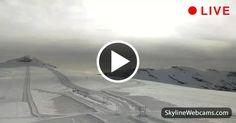View on the summer ski slopes on the Livrio Glacier