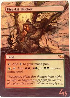 EDH Recommendations and strategy content for Magic: the Gathering Commander Mtg Altered Art, Alternative Art, Magic Cards, Wizards Of The Coast, Magic The Gathering, Fire, Hand Painted, Den, Art Cards