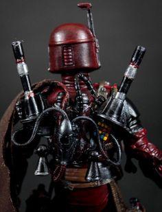 Boba Fett Deadpool Custom Marvel Legends Star Wars Black Series Crossover by Fanboy Toys