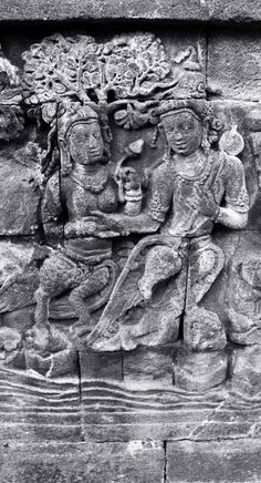 part of the Borobudur temple reliefs - couples