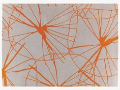 The striking Starfloral large grey wool rug features a graphic, hand-drawn flower design in vibrant orange, combined with an elegant grey background for maximum contrast. Buy now at Habitat UK. Orange Rugs, Orange Fabric, Childrens Rugs, Hallway Rug, Round Rugs, Small Rugs, Unique Home Decor, Surface Pattern, Soft Furnishings