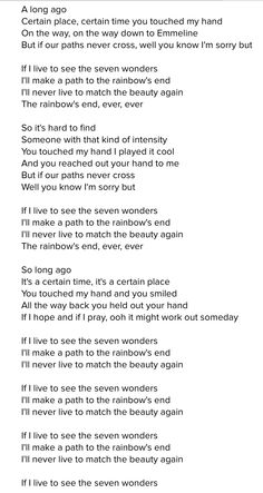 "Fleetwood Mac. ""Seven Wonders"".  :("