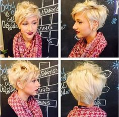 Layered, Messy Short Hairstyles for Blonde Fine Hair. This blonde one please