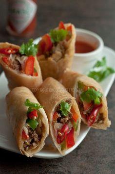 Taco Spring Rolls Recipe