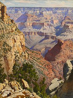 Grand Canyon Swedish born Gunnar Widforss(1879-1934)  One of the first painters to be sponsored by the National Park Service.