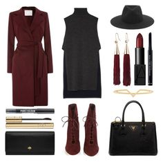 """""""#Street Style: Suede Boots"""" by sandycyh ❤ liked on Polyvore featuring Gianvito Rossi, ADAM, HUGO, rag & bone, Eddie Borgo, NARS Cosmetics, Christian Dior, Prada, Elizabeth and James and Mulberry"""