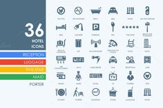 36 Hotel icons by Palau on Creative Market