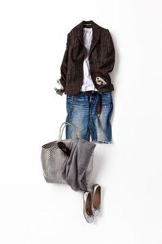 コーディネート詳細(着慣れたカジュアルスタイルに、ジャケットをプラス)| Kyoko Kikuchi's Closet|菊池京子のクローゼット