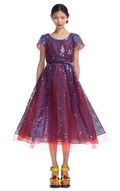 Sequin Broderie Anglaise Organza Evening Dress from Marc Jacobs