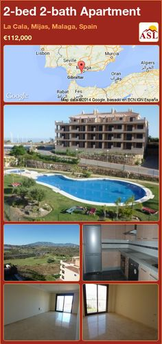 2-bed 2-bath Apartment in La Cala, Mijas, Malaga, Spain ►€112,000 #PropertyForSaleInSpain