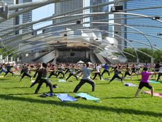 When running alone along the lakefront trail gets boring, you may need to a few friends to help get you motivated. Pop down to the Great Lawn in Millennium Park every Wednesday and Saturday through early September for a variety of free workout classes led by fitness experts.
