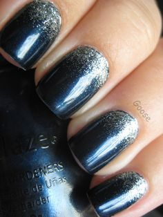 Goose's Glitter: The 12 Days of Christmas Nails: Day 2 - Frosty Night