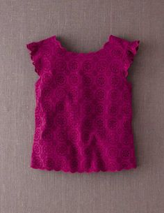 I've spotted this @BodenClothing Broderie Top Dark Cerise