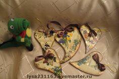 """Купить Подвески-сердечки """"Винтаж"""" - Декупаж, винтажный стиль, подвеска, День Святого Валентина, винтаж"""