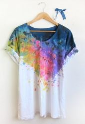 DIY Splash Dyed Tee.