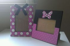 Handpainted Minnie MouseInspired Picture Frames by IHeartUBabies, $42.50
