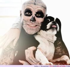Tattoo For Guys Skull Rick Genest 42 Ideas For 2019 Rick Genest, Funny Dogs, Funny Animals, Jesse Pinkman, Funny Dog Pictures, Cover Tattoo, Canadian Artists, Favim, Body Mods