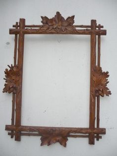"Beautifully Hand Carved Antique Black Forest Picture Frame. Oak Leaves & Acorns....awesome. 16 1/2 "" x 13"" .....what a lovely item, I'd love it !  Photo via ebay"