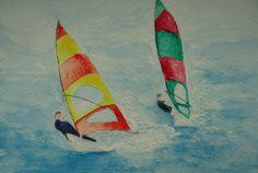 Windsurfers - Original Watercolour OSWOA £8.00