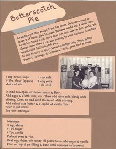 I made a heritage recipe album for my neice who got married last year. I paper pieced the pie. Old Recipes, Vintage Recipes, Cookbook Recipes, Dessert Recipes, Cooking Recipes, Cookbook Ideas, Vintage Food, Dessert Ideas, Healthy Recipes