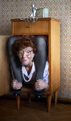Flexible grandma by Sigitas Kondratas, via Behance