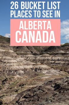 Discover the real Alberta with this list of bucket list worthy things to do, places to see, and experiences to have that you won't find on other lists! Best Places To Travel, Cool Places To Visit, Alberta Travel, Canadian Travel, Florida, Alberta Canada, Vacation Destinations, Travel Inspiration, Traveling By Yourself