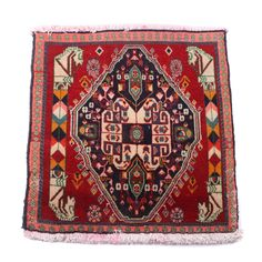 Hand-Knotted Persian Qashqai Wool Vagireh Mat   EBTH a07bbaeba