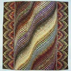 ROLLING PRAIRIE Quilt Pattern   Scrappy Bargello Head Turner