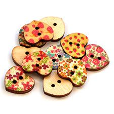 Hart Pattern Wooden Beads for R40/100 Buttons per pack.  These are so cool, just add them to any of your own home desings | Paradise Creative Crafts cc