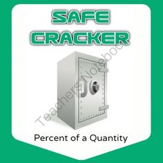 Safe Cracker - Percent of a Quantity - Math Fun! from Mathematic Fanatic on TeachersNotebook.com -  (4 pages)  - Crack the safes by solving percent problems!  Find the prizes inside!