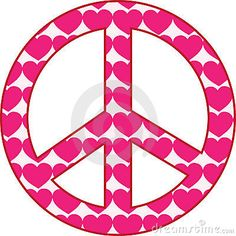 Royalty Free Stock Images: Heart Peace Sign. Image: 13291719