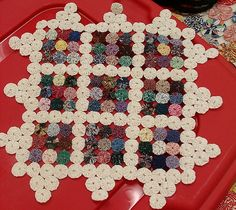 mini yoyo quilt/made by teacher | Flickr - Photo Sharing!