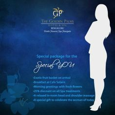 A special package for the special YOU   #Women #Womenempowerment #Discounts #Offers #GPHotels