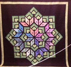 Beautiful Mandala Influenced Quilt Mid-Atlantic Quilt Show 2013 - Hampton VA