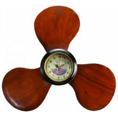 """Wooden Propeller Clock 22""""   The New French Creek Outlet For Real Bargains. Free Shipping."""
