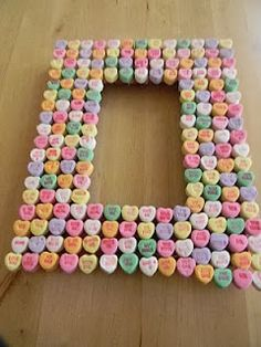 heart candy picture frame