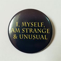 Beetlejuice Button Pin Badge ∙ I, Myself, Am Strange And Unusual Quote Pin Badge ∙ Cute Fridge Magnet ∙ Halloween Tim Burton Film Magnet Beetlejuice Quotes, Really Funny Pictures, Cool Buttons, Stuff And Thangs, Cool Pins, Button Badge, Purple Backgrounds, Pin And Patches, Metal Pins
