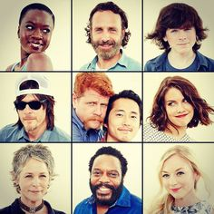 The Walking Dead Cast How ironic, Glenn and Abraham together in the middle.