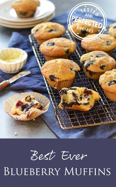 Best Blueberry Muffins Once Upon a Chef is part of Blue berry muffins - TESTED & PERFECTED RECIPE Bursting with fresh blueberries with a tender crumb & sparkling sugar crust, these are the best blueberry muffins Best Blueberry Muffins, Blueberry Recipes, Blue Berry Muffins, Muffin Recipes, Brunch Recipes, Baking Recipes, Breakfast Recipes, Breakfast Muffins, Food And Drink