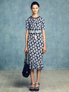 Tory Burch Resort 2013 Blue Print Dress - The Best Looks from Resort 2013 - Harper's BAZAAR