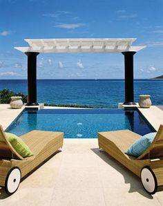 Beach Pool by Dorothy Draper & Company and Lanio and Associates Architects, Inc. in U.S Virgin Islands