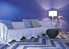 sala azul añil