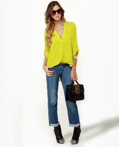 V-sionary Chartreuse Top