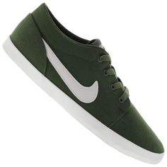 Tênis Nike Futslide TXT Casual Masculino Verde / Branco