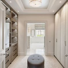 A calming palette for a bespoke dressing room designed for our clients luxurious Knightsbridge development - pared back neutrals make the ro...