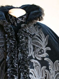Detail of an opera cloak, Italian make, C1896.